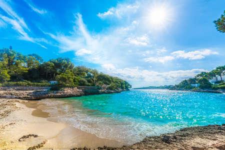 Cala Dor beach at Cala d'Or city, Palma Mallorca Island, Spain Banque d'images