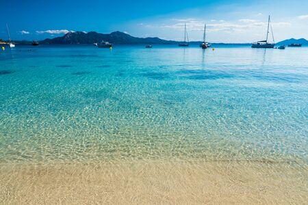 Clear water at playa de Formentor (Cala Pi de la Posada ), Palma Mallorca, Spain