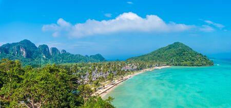 Landscape with Loh Samah Bay, Phi Phi island, Thailand Zdjęcie Seryjne