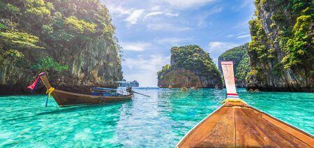 View of Loh Samah Bay, Phi Phi island, Thailand Zdjęcie Seryjne