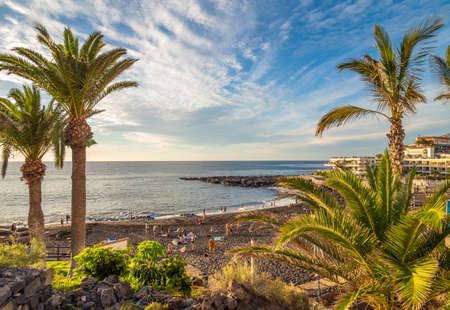Landscape with Arena beach, Tenerife, Canary island, Spain