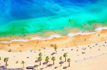 Landscape with Las teresitas beach, Tenerife, Canary Islands, Spain Stockfoto