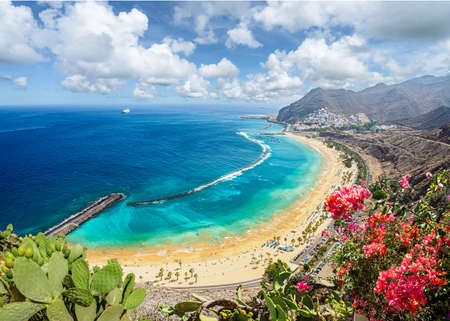 Landscape with Las Teresitas beach and San Andres village, Tenerife, Canary Islands, Spain Stockfoto