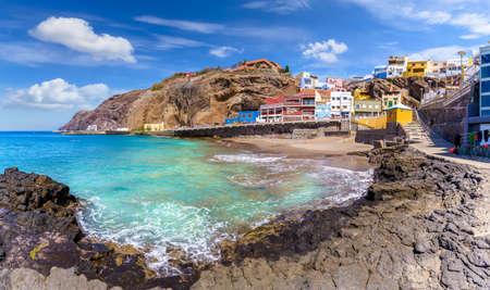 Landscape with Sardina de Galda and North Beach Sardina, north Gran Canaria, Spain