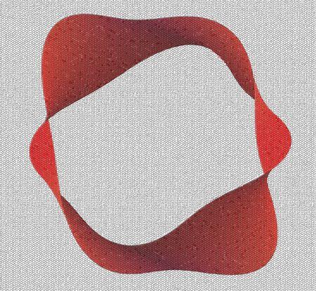 semblance: banda rossa moebius � composta da pezzi di piccolo mosaico  Archivio Fotografico