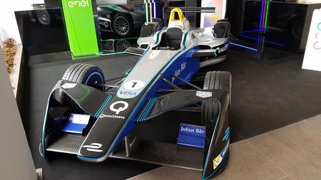 Enel Formula-E electric race car, sports car