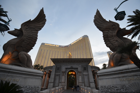 Mandalay Bay is statue, art and mythology. That marvel has monument, sculpture and temple and that beauty contains gargoyle, screenshot and memorial. Editorial