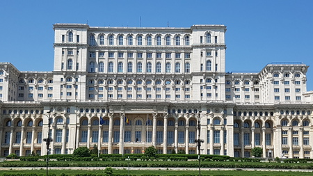 Palace of the Parliament, Romania is classical architecture, landmark and estate. That marvel has building, stately home and facade and that beauty contains palace, mansion and official residence. Editorial