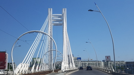 Bridge is cable stayed bridge, fixed link and extradosed bridge. That marvel has landmark, metropolitan area and suspension bridge and that beauty contains sky, urban area and skyway.