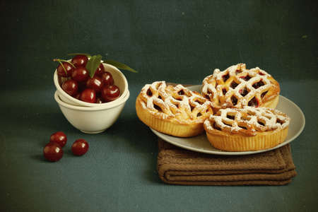 Cherry pie for home tea