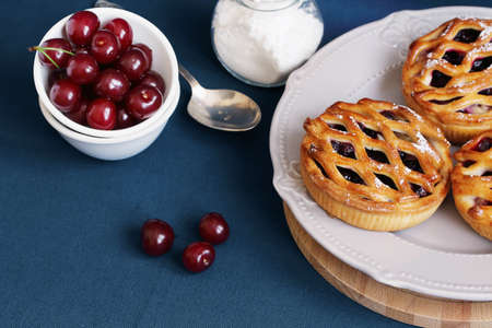 Cherry pie for home tea