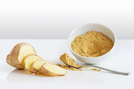 Ginger root, crushed to a powder for baking