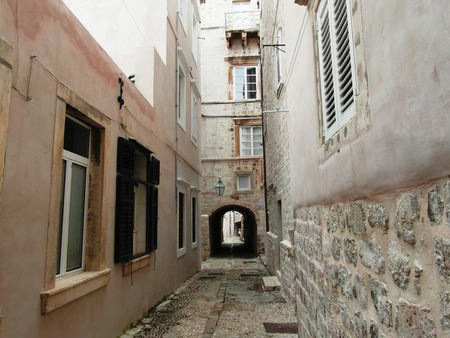 urbanistic: Narrow street in the Old Town of Dubrovnik