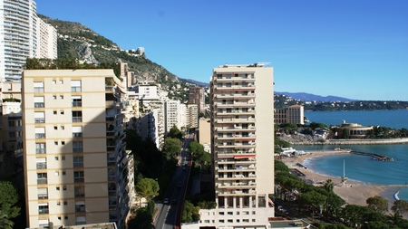 monte carlo: Beautiful houses in Monaco, Monte Carlo at summer