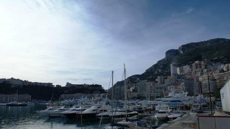 monte carlo: Yacht port in Monaco, Monte Carlo near the rocks