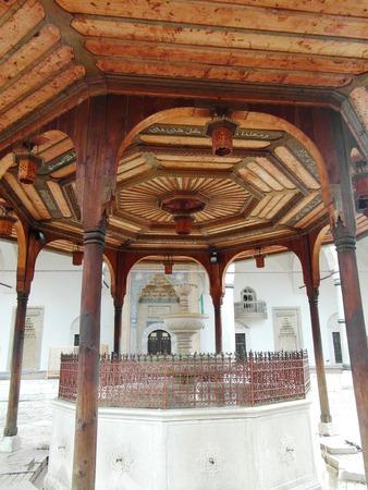 sarajevo: Beautiful wooden gazebo in Bosnia and Herzegovina, Sarajevo