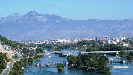 wind down: Beautiful nature in Albania, Shkoder city in summer