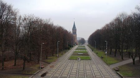 fantastic view: Fantastic view of Kaliningrad city, baltic town in Russia
