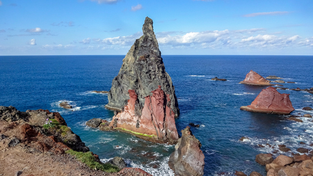 Cabo Sao Lorenco is one of the most beautiful capes of Madeira, Portugal. East of the island
