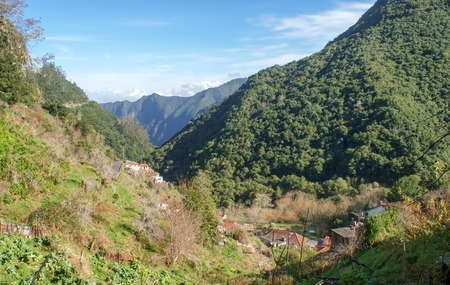 Vereda dos Balcoes goes by levada, it's easy and beautiful way in Madeira where you could go without auto