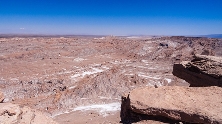 Valle de la Luna in Atacama Desert, Chile. Amazing landscape of the unusual nature in South America. Stock Photo