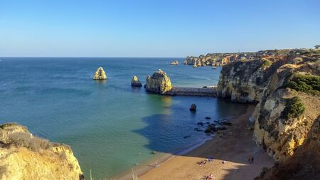 Lagos is a city on the South of Portugal. It has amazing nature: rocks, mountains and view on the Atlantic Ocean. Popular place among the tourists.