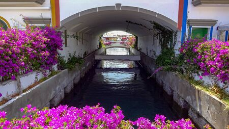 Beautiful Puerto Mogan on the South-West of Gran Canaria. A lot of flowers and chennels, amazing views, great beach.