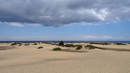 Playa del Ingles is a part of Maspalomas. Beautiful views of dunas, amazing south of Gran Canaria, beautiful Canarian island of Spain.