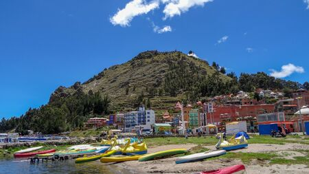 This is lake Titicaca, all the photos are maden in the city Copacabana, Bolivia, close to the border to Peru