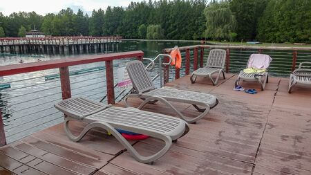Lake Heviz and thermal bath on it. Good complex and nice beach on the thermal lake. Its water is very good for health.