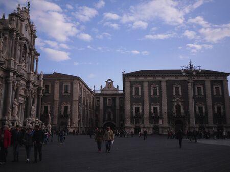 Beautiful architecture of Catania. It's a big city on the italian city Sicily. Amazing place 写真素材
