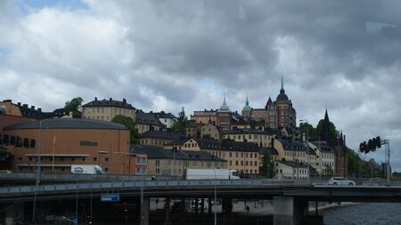 The stunning architecture of Stockholm and its suburbs. Homes and nature are perfectly combined here. Фото со стока