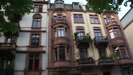 The stunning architecture of Frankfurt am Main, typical buildings and old streets. Downtown and beautiful houses.