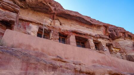 Petra is one of the wonders of the world created by people. Treasures and tombs are carved into the huge rocks. People come here from all over the world