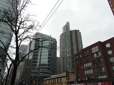 Beautiful Toronto, Ontario. Architecture, old and new buildings, wonderful views in the spring. Stock fotó