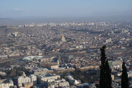 Tbilisi is a very beautiful city with an ancient history. There are stunning high hills, delicious food and beautiful architecture. No filter 写真素材