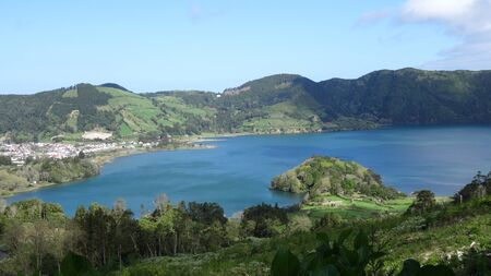 Stunning lakes in the Azores. Blue and Green Lakes, amazing atmosphere, beauty and cleanliness. Easy rest