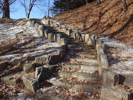 Korean park in daytime.