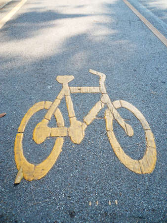 bike lane: Bike Lane Stock Photo