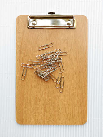 writing board: Writing board and  paper clip