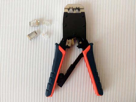 crimping: Network Crimping Module Plug for RJ-11 and RJ-45