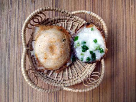 wicker work: Kind of Thai sweetmeat Stock Photo