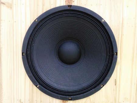 loudspeaker: Wooden Loudspeaker enclosures Stock Photo
