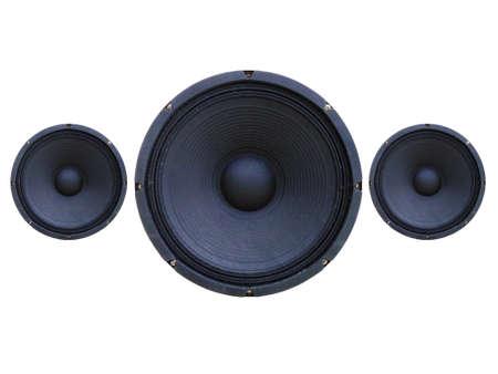 loudspeaker: Loudspeaker isolated on white Stock Photo