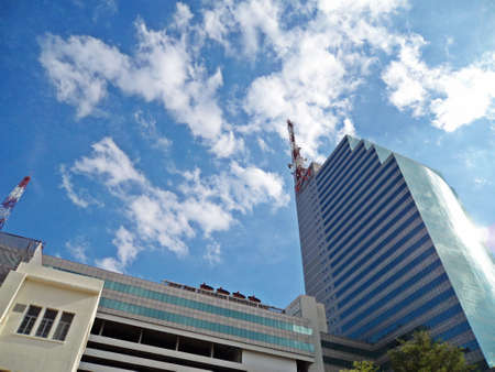 public company: BANGKOK, THAILAND - SEP 3: Telecommunication Building (CAT Tower building) on SEP 3, 2016 in Bangrak ,Bangkok,Thailand. Office building is owned and operated by the CAT Telecom Public Company Limited.