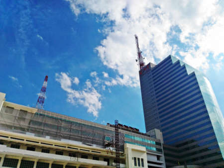 public company: BANGKOK, THAILAND - SEP 3: Telecommunication Building (CAT Tower building) on SEP 3, 2016 in Bangrak ,Bangkok,Thailand. Office building is owned and operated by the CAT Telecom Public Company Limited Editorial