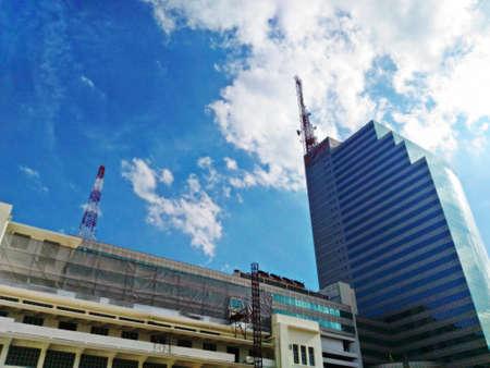 bangrak: BANGKOK, THAILAND - SEP 3: Telecommunication Building (CAT Tower building) on SEP 3, 2016 in Bangrak ,Bangkok,Thailand. Office building is owned and operated by the CAT Telecom Public Company Limited Editorial