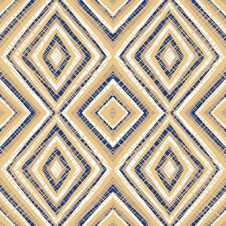 Vector geometrical diamond shapes seamless pattern repeat