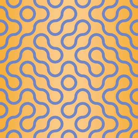 Vector abstract Truchet wavy style seamless pattern repeat