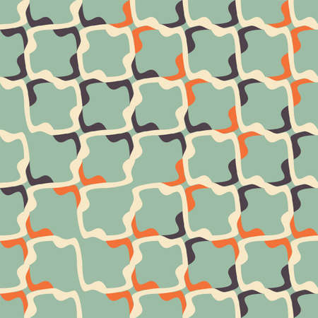 Vector abstract irregular grid structure seamless pattern